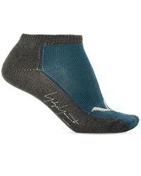 Yohji Yamamoto Short Socks Blue