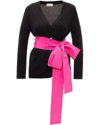 RED Valentino Sweater With Belt - Black