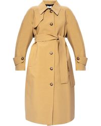Victoria Beckham Collared Trench Coat - Natural