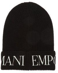 Emporio Armani - Logo-embroidered Hat - Lyst