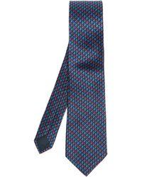 Lanvin Tie & Pocket Square Set - Blue