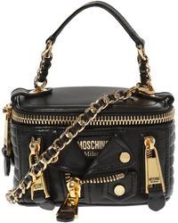 Moschino Quilted Shoulder Bag - Black