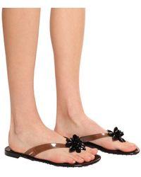 Le Silla Embellished Flip-flops Black