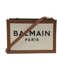Balmain - Shoulder Bag With Logo - Lyst