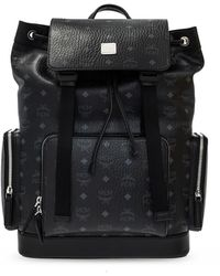 MCM Backpack With Logo - Black