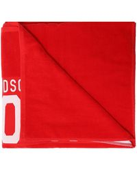 DSquared² - Towel With Logo Unisex Red - Lyst