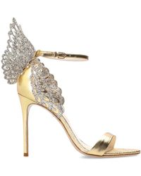 Sophia Webster - 'evangeline' Stiletto Sandals Gold - Lyst