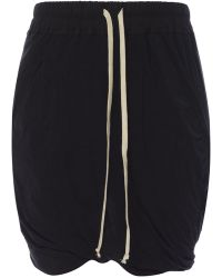Rick Owens Drkshdw Shorts With Crinkles - Black