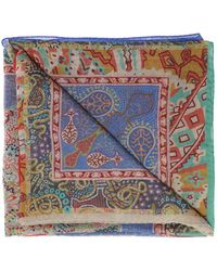 Etro Patterned Scarf - Blue