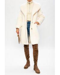 RED Valentino Faux-fur Coat Cream - Natural