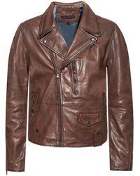 John Varvatos Leather Jacket - Brown