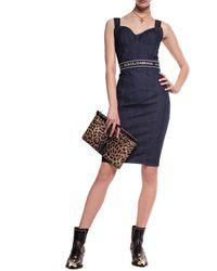 Dolce & Gabbana Denim Body With Straps Navy Blue