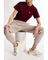 Fila Logo-patched T-shirt Burgundy - Purple