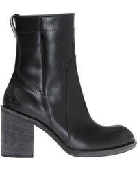 Haider Ackermann 'brell' Heeled Ankle Boots - Black