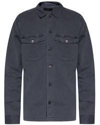 AllSaints 'spotter' Distressed Shirt Gray