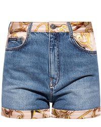 Philipp Plein Shorts With Pockets - Blue