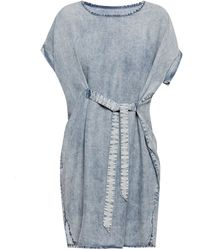AllSaints - 'sonny' Dress With Tie Fastening - Lyst