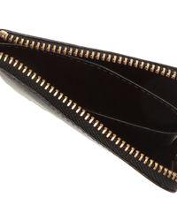 Comme des Garçons Logo Zipped Wallet - Black