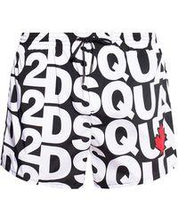 DSquared² Swim Shorts With Logo - Black