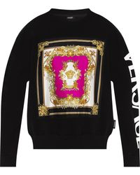 Versace Sweatshirt With Logo - Black