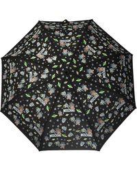 Moschino Printed Umbrella Unisex Black