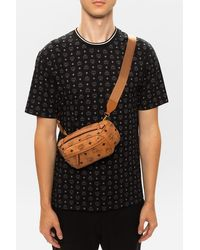 MCM Branded Belt Bag Brown