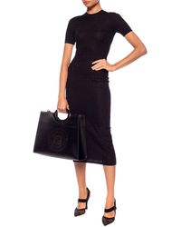 Fendi Short Sleeve Dress Black