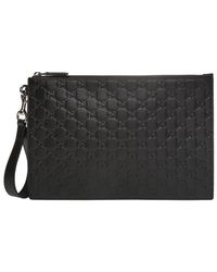 Gucci GG-embossed Clutch - Black