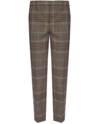 Givenchy Patterned Creased Trousers - Brown