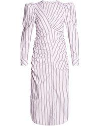 Ganni Long Sleeve Dress - Purple