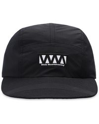 White Mountaineering Hat With Logo - Black