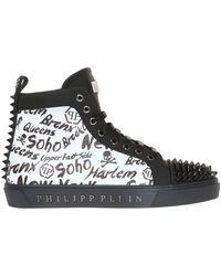 Philipp Plein - Appliqued High-top Sneakers - Lyst