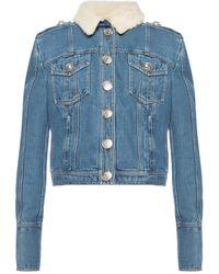 Balmain Jacket With Epaulettes - Blue
