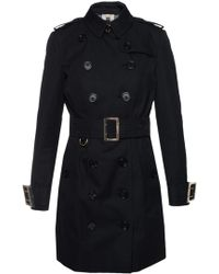 Burberry - Trench Coat With Epaulettes - Lyst