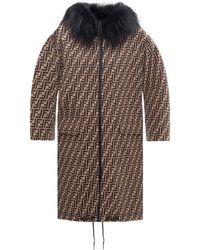 Fendi Reversible Overcoat Brown