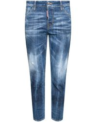 DSquared² 'cool Girl Jean' Raw-cut Jeans - Blue