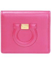 Ferragamo Card Case With Logo - Pink