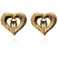 Saint Laurent - Clip-on Earrings Gold - Lyst