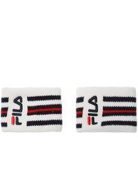 Fila Wristband Set White