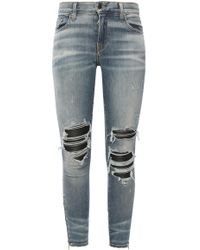 Amiri Mx1 Knee-patches Skinny Jeans - Blue