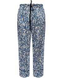 Victoria, Victoria Beckham Printed Pants - Blue