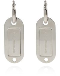 MM6 by Maison Martin Margiela Earring With Pendant Silver - Metallic