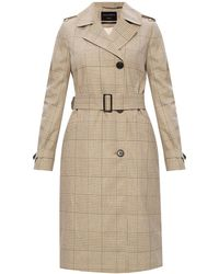 AllSaints 'chiara' Notched Lapel Trench Beige - Natural
