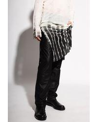 Ann Demeulemeester Leather Skirt Black