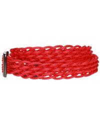 Yohji Yamamoto Braided Belt - Red