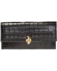 Alexander McQueen Skull Wallet - Black