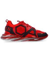 Philipp Plein 'hexagon' Trainers - Red