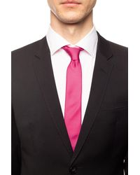 Moschino Printed Tie - Pink