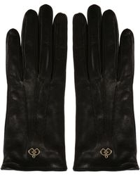 DSquared² - Leather Gloves With Logo - Lyst