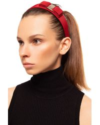 Ferragamo Headband With Logo - Red